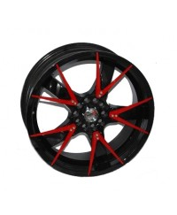 Диски Sportmax Racing SR-508 Black+Red. Ins. R18 W7.5 PCD10x112/114.3 ET42 DIA67.1