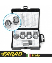 Секретки на колеса Гайки секретки Farad StarLock М12x1.5x29мм Конус Вращающееся кольцо (для оригинальных дисков Ford) Ключ 19