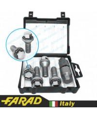 Секретки на колеса Болты секретки Farad GalaxyLock М14х1.25х28 Конус Вращающаяся головка Ключ 17 (2 ключа)