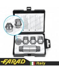 Секретки на колеса Гайки секретки Farad StarLock М12х1.5х29мм Конус Вращающееся кольцо (для оригинальных дисков Ford) + запасной ключ под 19