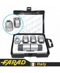Секретки на колеса Гайки секретки Farad StarLock М12х1.5х30мм Конус Вращающееся кольцо (Chevrolet, Daihatsu, Hyundai, Kia, Mazda) + запасной ключ под 21