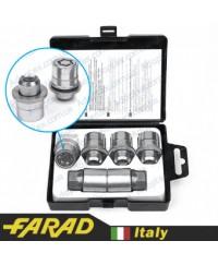 Секретки на колеса Гайки секретки Farad StarLock М12x1.5x36мм Прессшайба Вращающееся кольцо (Citroen, Lexus, Mitsubishi, Peugeot, Toyota) ключ 21