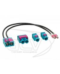 Адаптеры антенные Переходник Авто-DIN 1524-25  Audi,Seat,Skoda,VW- с двойного раздельного на двойной спаренный