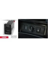 Зарядные устройства Разветвитель USB Carav 17-204 TOYOTA-LEXUS new 5v 2.1A (2 порта)