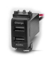 Зарядные устройства Разъем USB в штатную заглушку Carav 17-106 Nissan / 2 порта: аудио + зарядное устройство