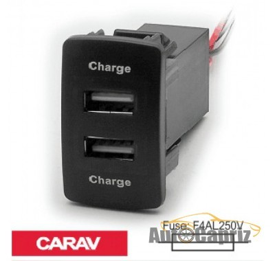 Зарядные устройства Разветвитель USB Carav 17-205 Honda/Acura (2 порта)