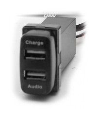 Зарядные устройства Разъем USB в штатную заглушку Carav 17-107 Mitsubishi / 2 порта: аудио + зарядное устройство