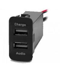 Другое Разъем USB в штатную заглушку Carav 17-108 для SUZUKI (2 порта: аудио + ЗУ)