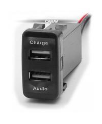 Зарядные устройства Разъем USB в штатную заглушку Carav 17-103 Toyota/Lexus / 2 порта: аудио + зарядное устройство