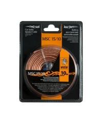 Наборы Акустический кабель+клеммы для обжима MSC -15/10, 10 м в блистере,15 Ga,2х1,5 мм
