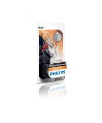 Лампы накаливания Лампа накаливания Philips W3W, 2шт/блистер 12256B2