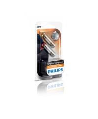 Лампы накаливания Лампа накаливания Philips C5W, 2шт/блистер 12844B2