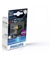 LED-габариты Лампа светодиодная Philips Festoon BlueVision LED T10.5x38, 6000K, 1шт/блистер 128596000KX1
