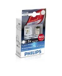 LED-габариты Лампа светодиодная Philips P21/5W RED 12/24V, 2шт/блистер 12899RX2