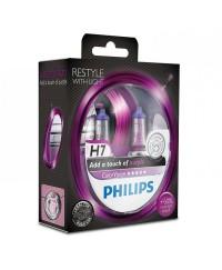 Галогенные лампы Лампа галогенная Philips H7 ColorVision Purple, 2шт/блистер 12972CVPPS2