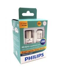 LED-габариты Лампы светодиодные Philips PY21W LED 12V + Smart Canbus 11498ULAX2 White