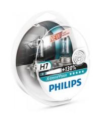 Галогенные лампы Лампа галогенная Philips H7 X-treme VISION +130%, 3700K, 2шт/блистер 12972XV+S2