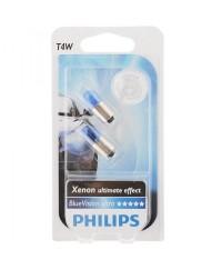 Лампы накаливания Лампа накаливания Philips T4W BlueVision, 2шт/блистер 12929BVB2
