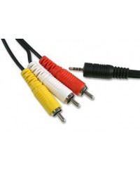 Адаптеры Bluetooth,  Xcarlink, iPod и другие Кабель-переходник AV 3RCA - Jack 3.5 мм